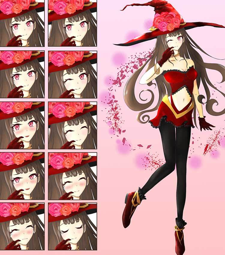 薔薇魔法使いの可愛い女の子