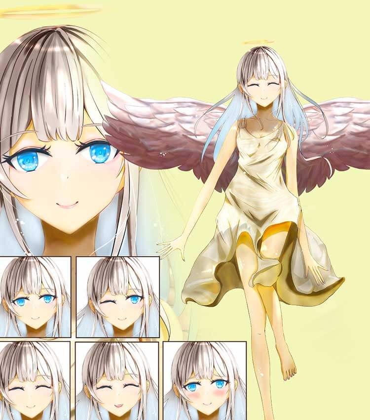 天使の可愛い女の子