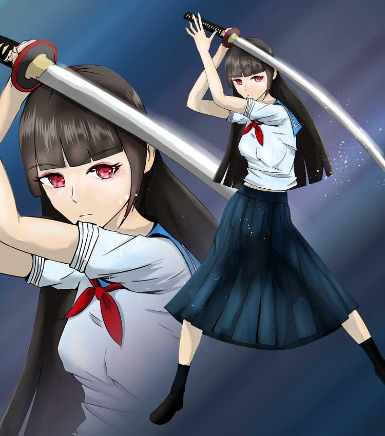 jk剣士の可愛い女の子