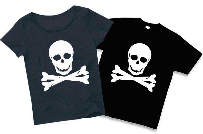 定番骨とドクロのスカルTシャツ