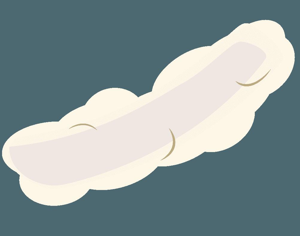 イカの天ぷらのイラスト