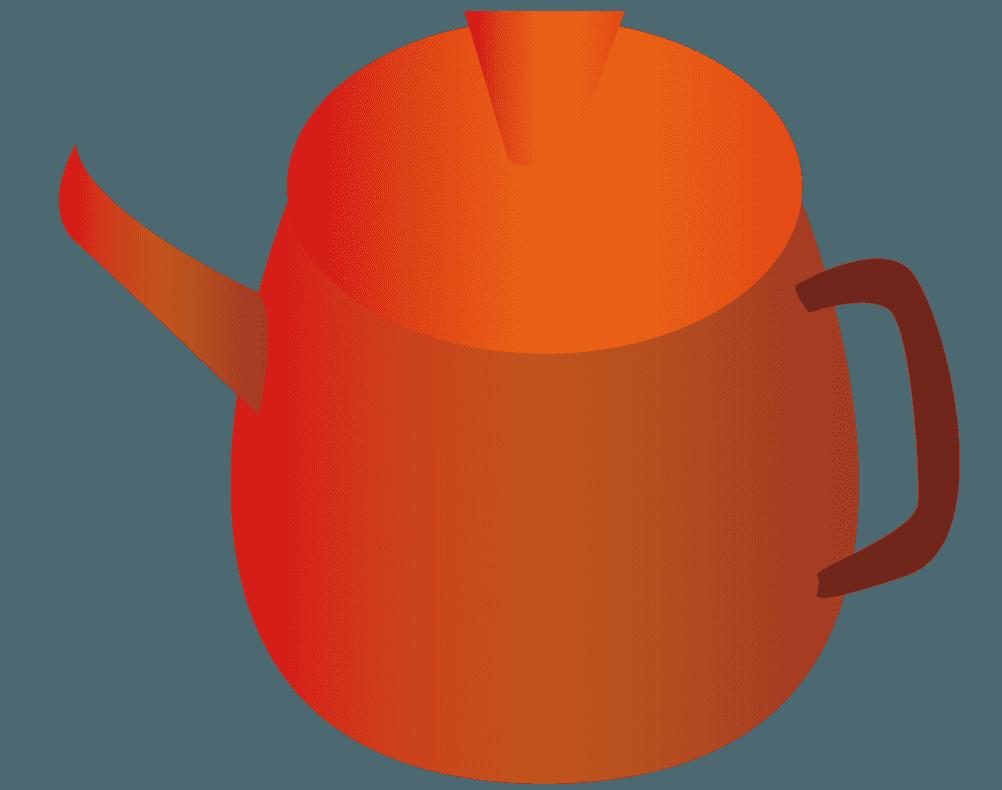 蕎麦湯のイラスト