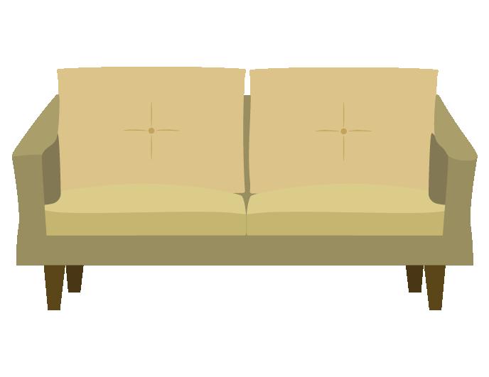 シンプルなソファーのイラスト