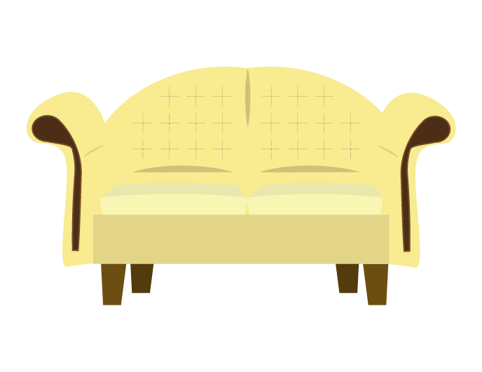 可愛いソファーのイラスト