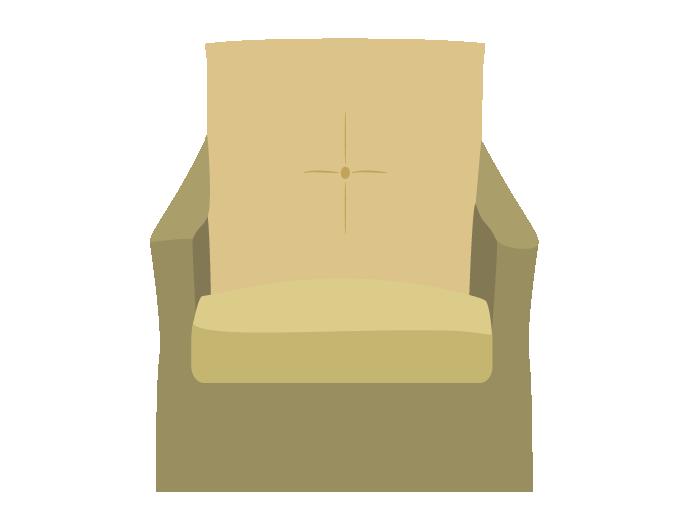 シンプルなソファー(1人がけ)のイラスト