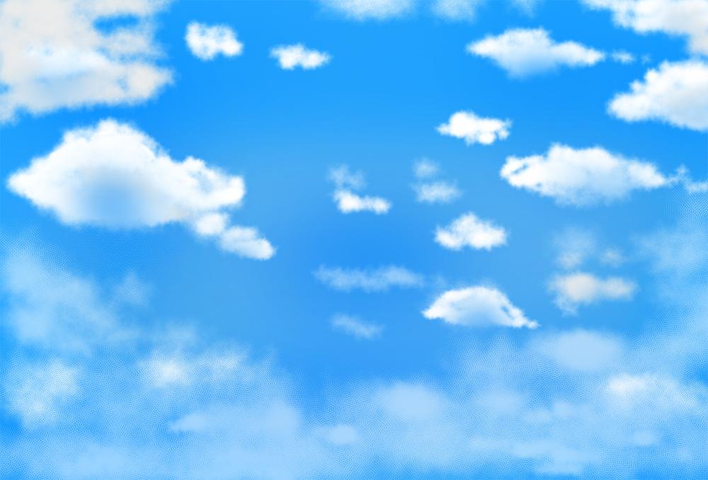 青空の背景イラスト