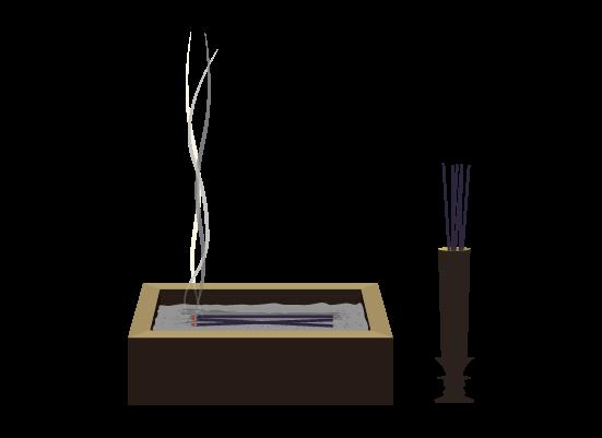 お焼香のイラスト