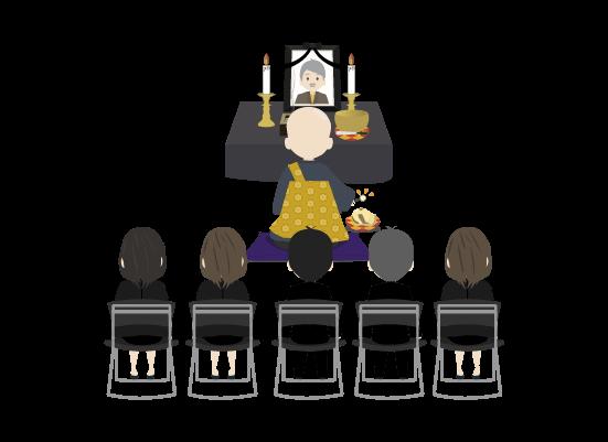 葬式のイラスト