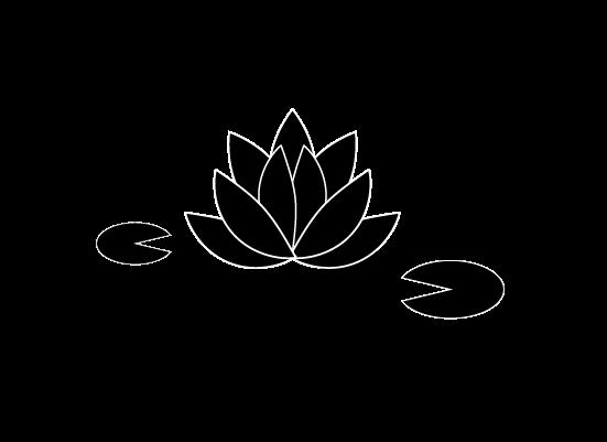 ハスの花のイラスト