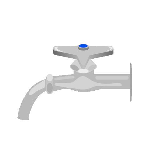 シンプルな水道のイラスト