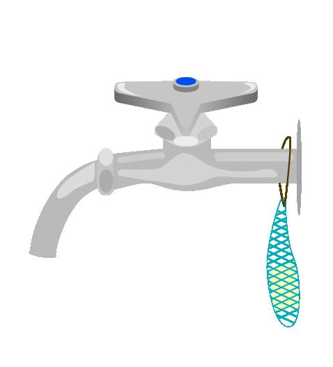 学校の水道のイラスト