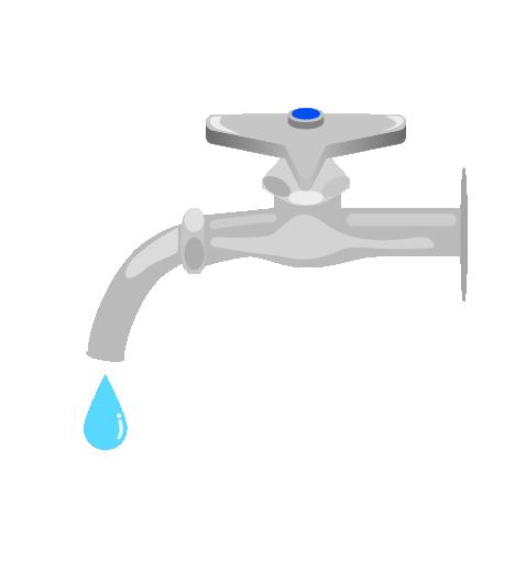 水滴と蛇口のイラスト