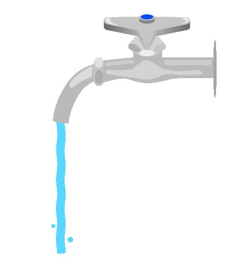 チョロだしの水道のイラスト