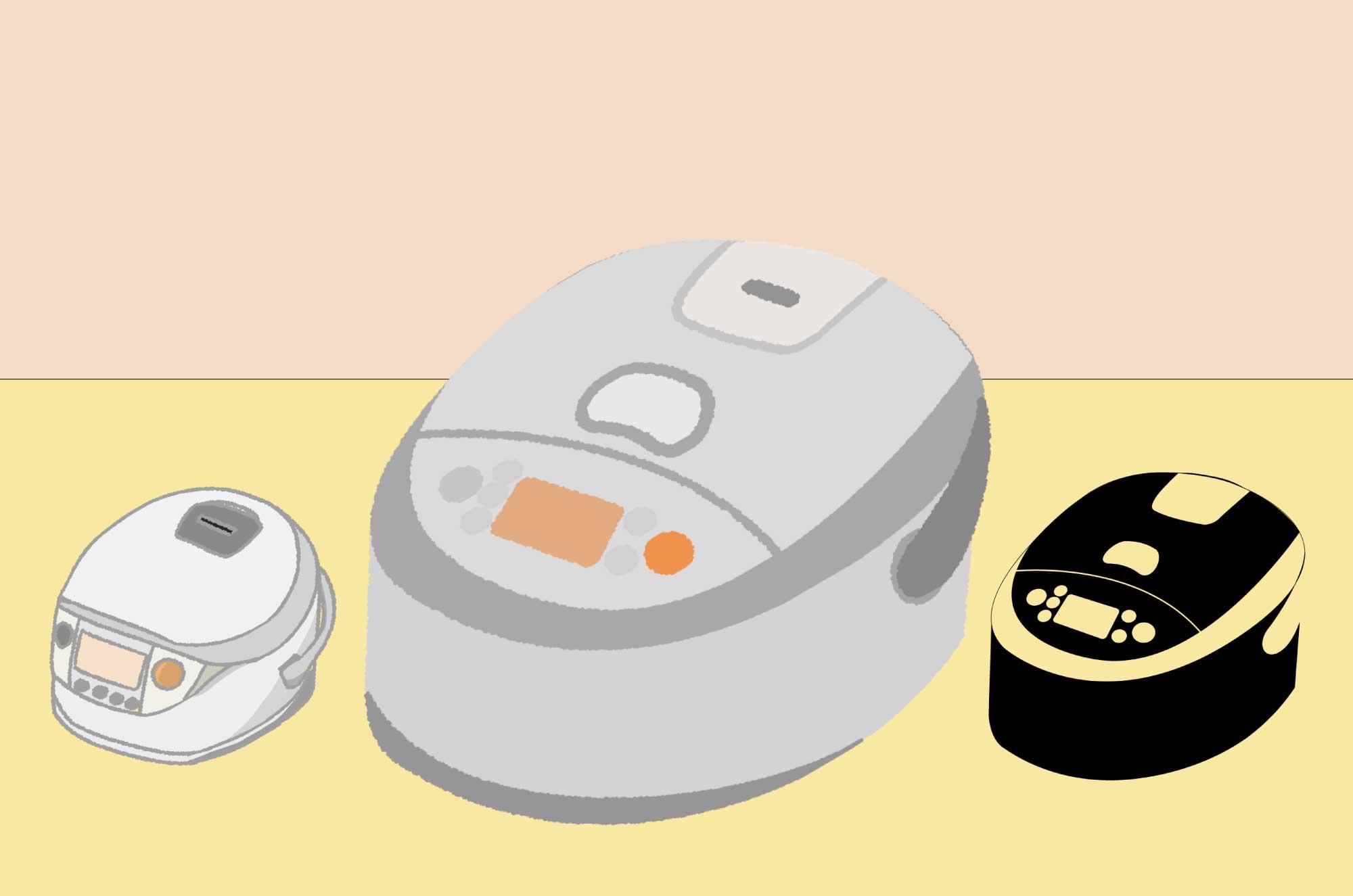 炊飯器のイラスト - お米を炊く生活家電の無料素材