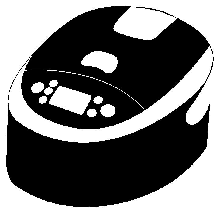 シルエットアイコン風の炊飯器のイラスト