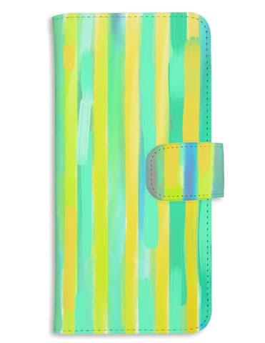 水彩ボーダー柄のおしゃれでシンプルなスマホケース