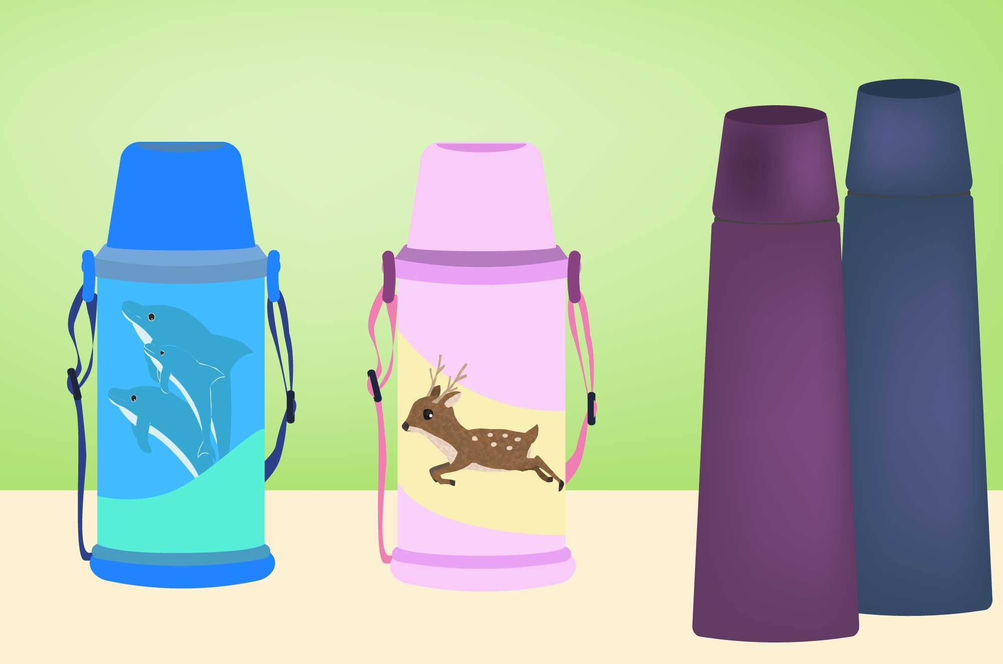 水筒のイラスト - 遠足・お出かけ生活用品素材