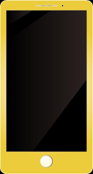 黄色いスマホ