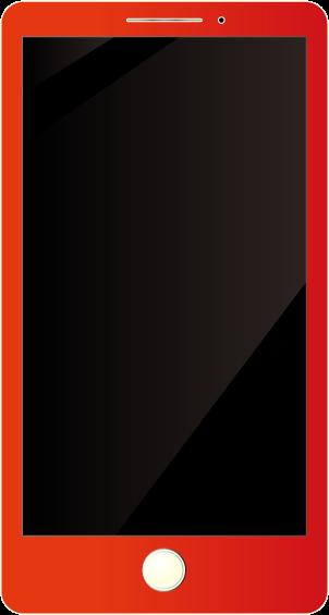 赤いスマホ