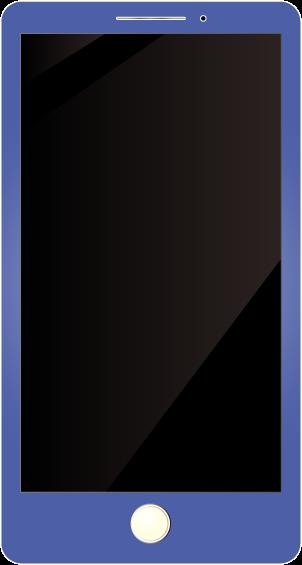 青いスマホ