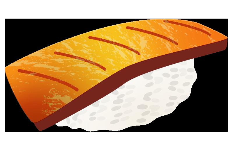 炙りサーモンのイラスト