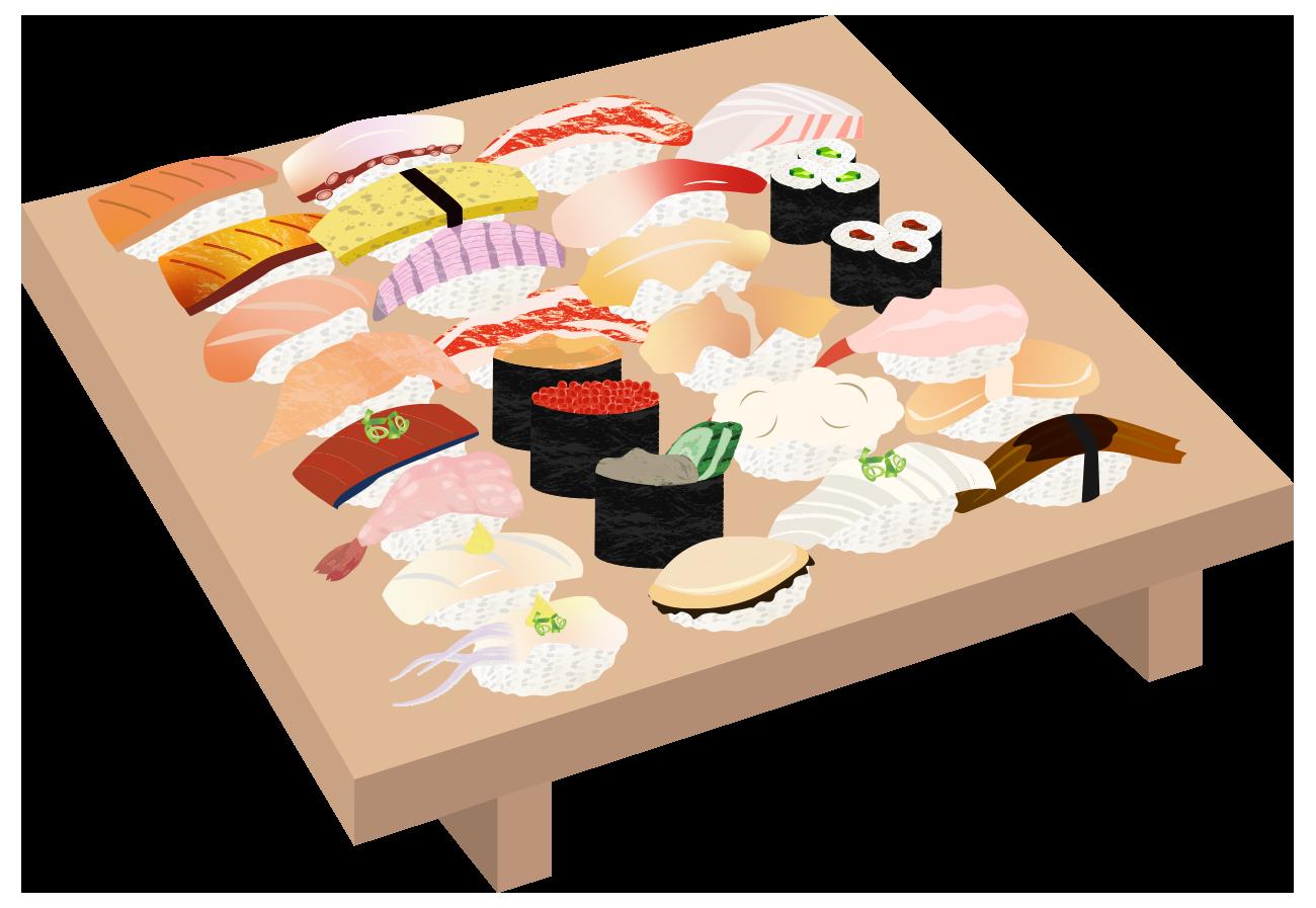 寿司全種類のイラスト