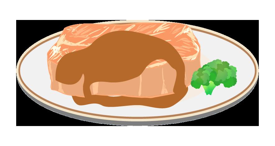 ぶあついステーキのイラスト
