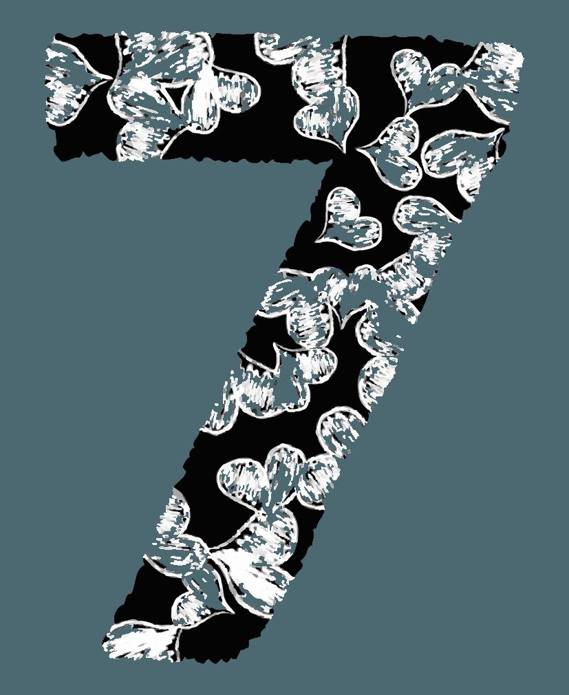 手描きのハートの数字イラスト7