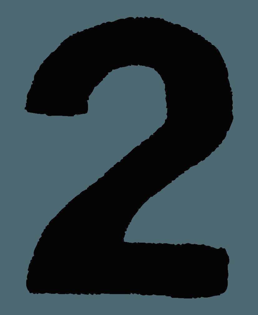 手描きの数字イラストノーマル2