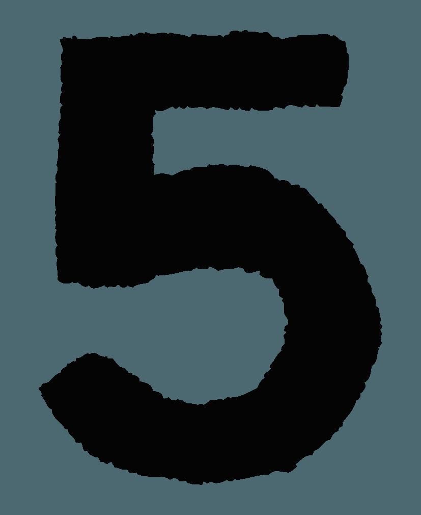 手描きの数字イラストノーマル5