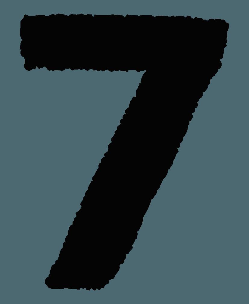 手描きの数字イラストノーマル7