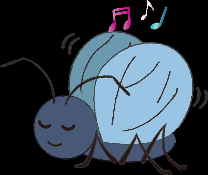 かわいい鈴虫のイラスト