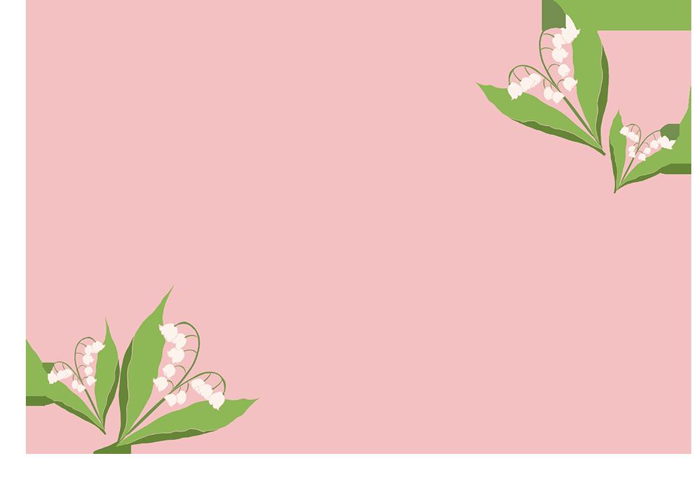 鈴蘭の四角フレーム(背景あり1000×706)
