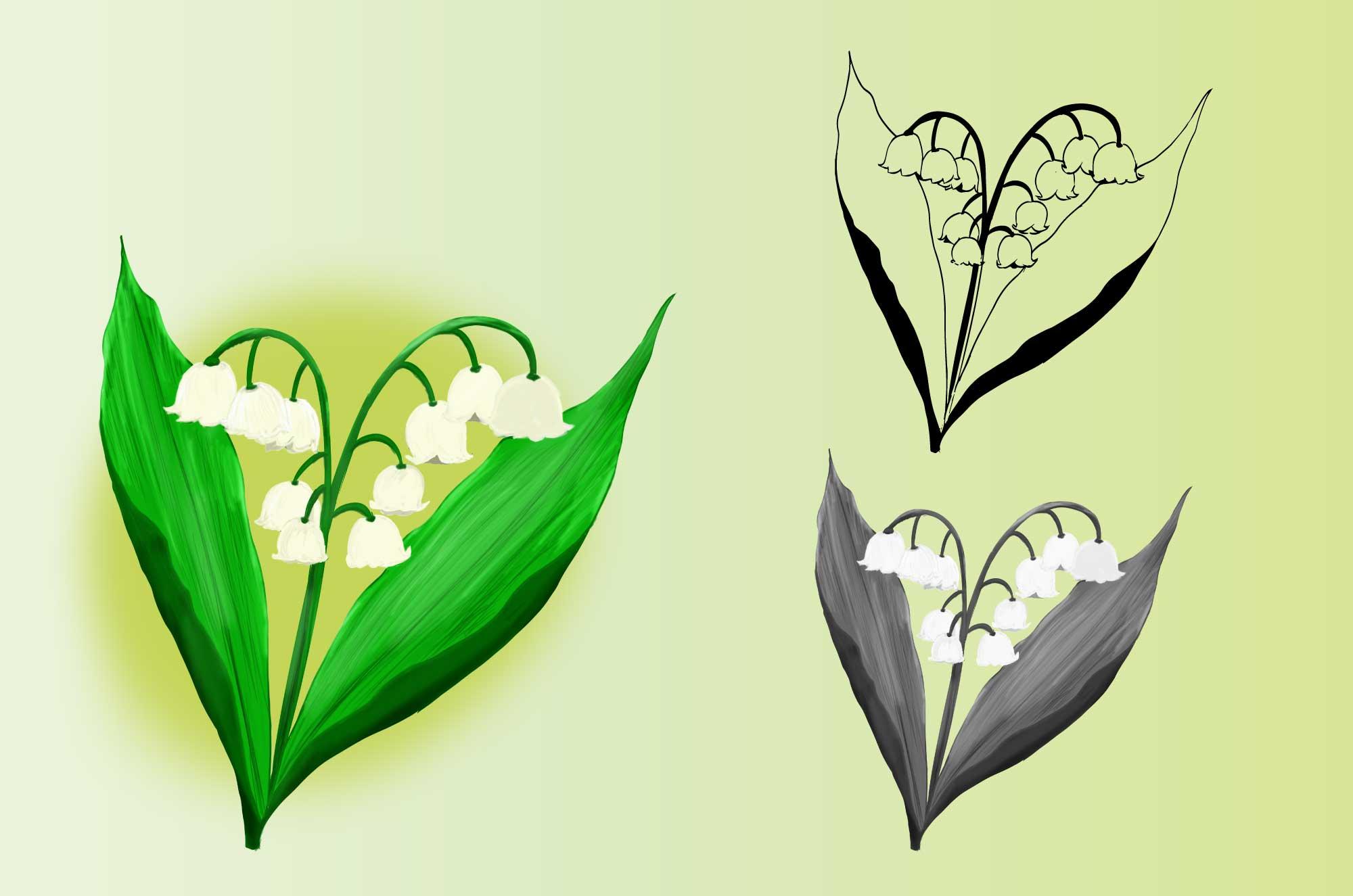 すずらんのイラスト - 無料の可愛い花のフリー素材