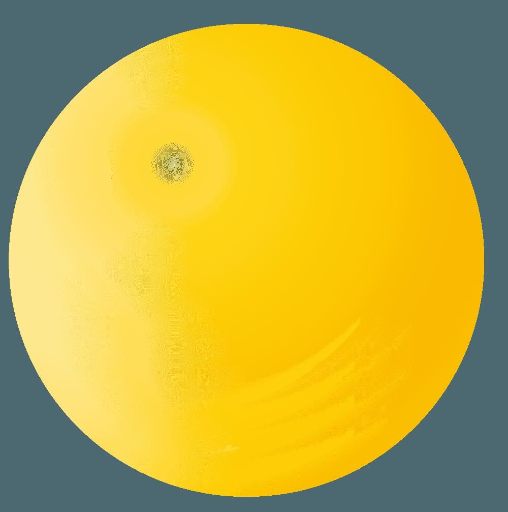 黄色のシャボン玉イラスト
