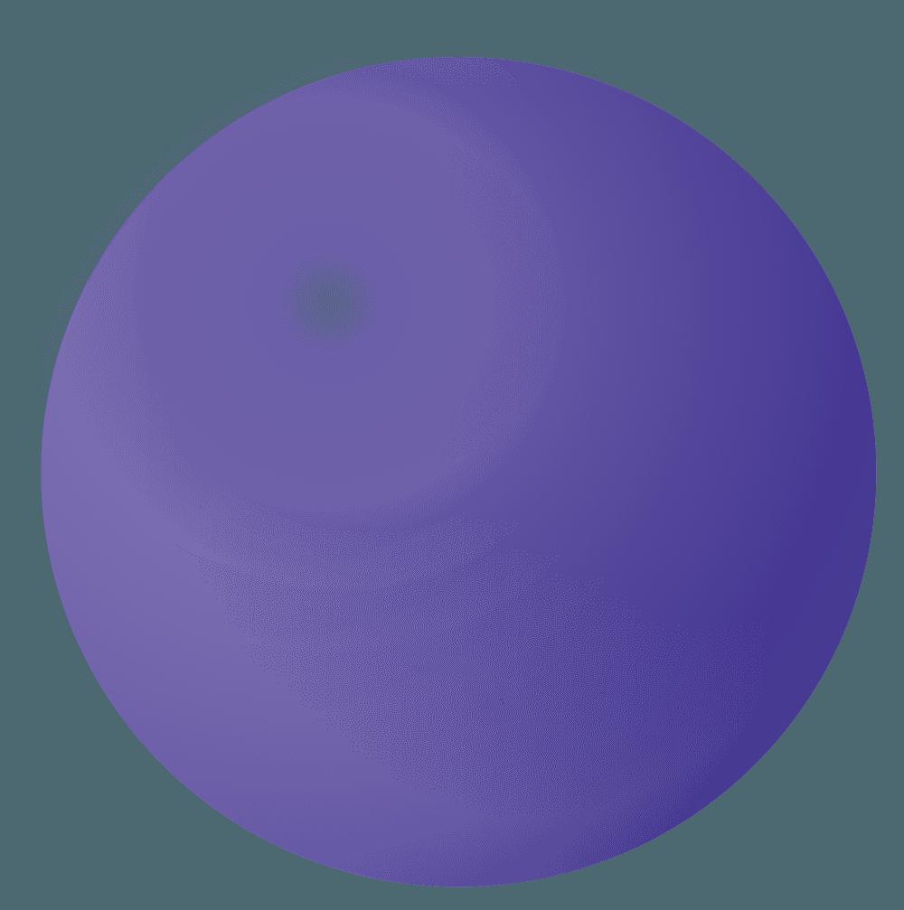 紫のシャボン玉イラスト