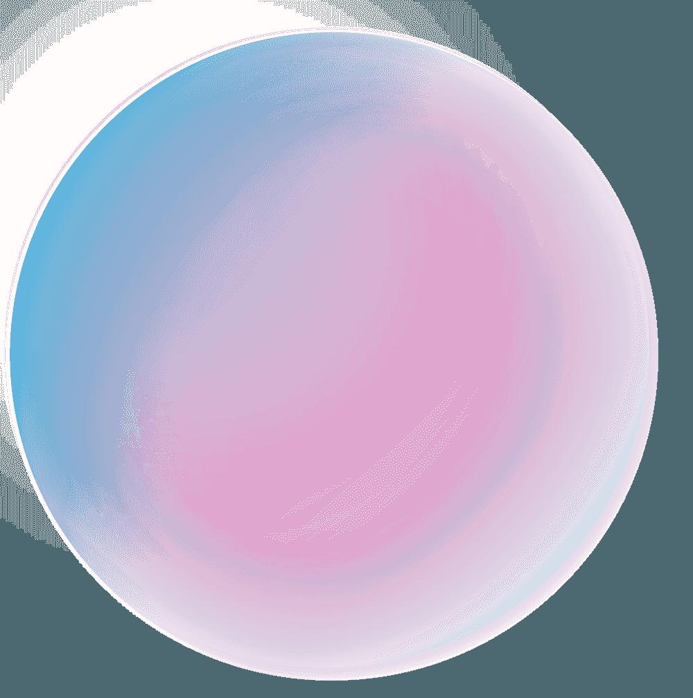 青っぽい綺麗なシャボン玉イラスト