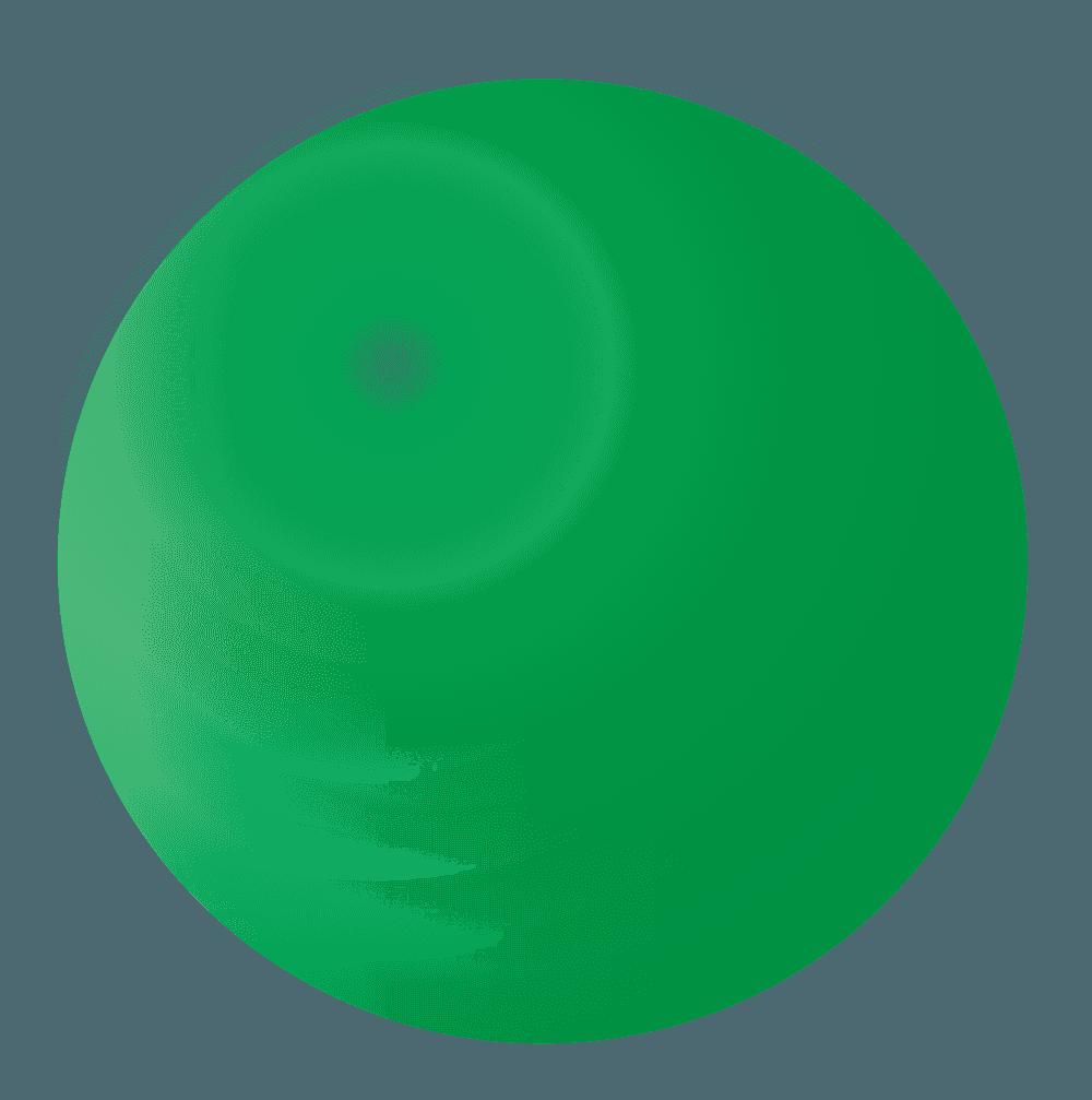 緑のシャボン玉イラスト
