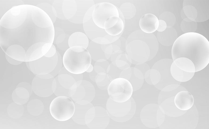シャボン玉の背景(白黒)のイラスト