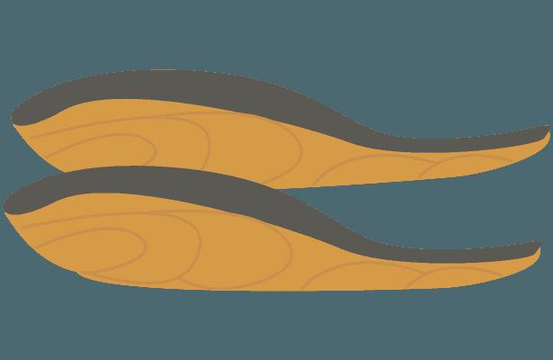 焼いた鮭の切り身のイラスト