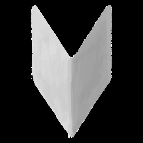 白黒初心者マークのイラスト15