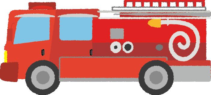 可愛い消防車のイラスト