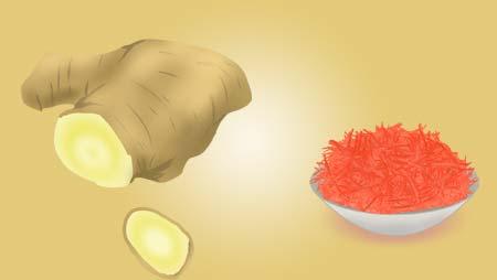 生姜のイラスト素材 - 紅ショウガ・香辛料の野菜