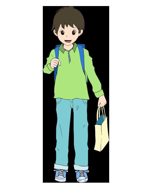 男の子の小学生のイラスト