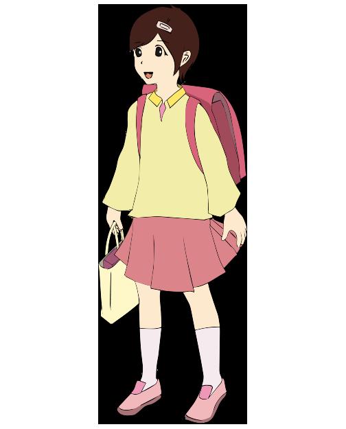 可愛い女の子の小学生のイラスト2