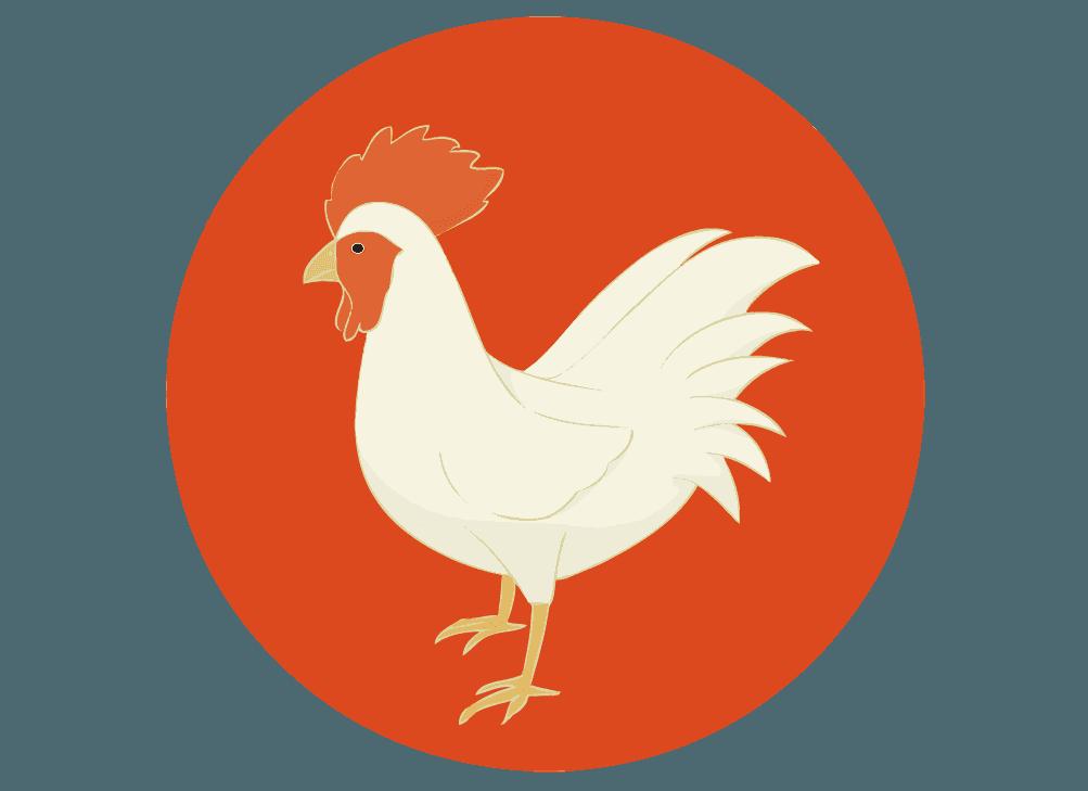 鳥の縁起物マークのイラスト