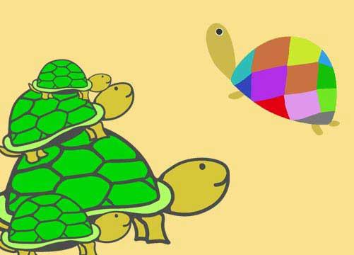 亀のイラスト