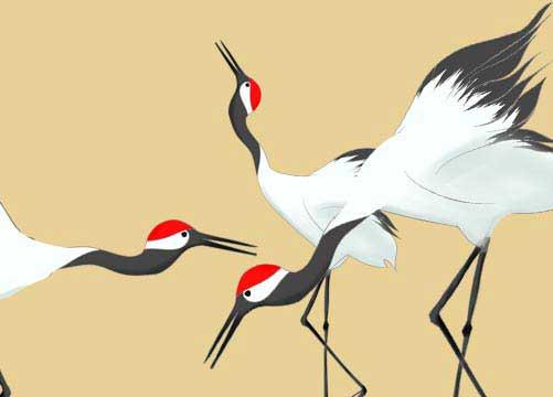 おめでたい鶴のイラストイラスト