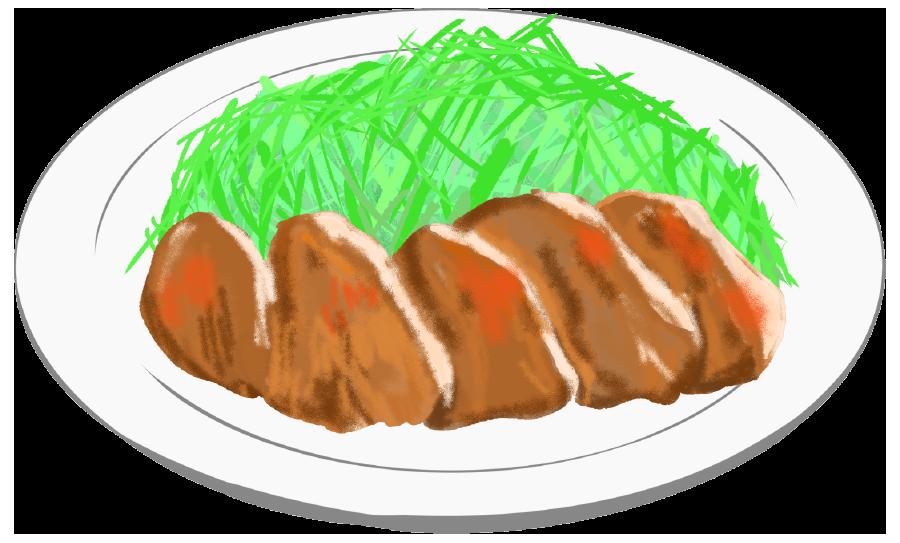 生姜焼きのイラスト