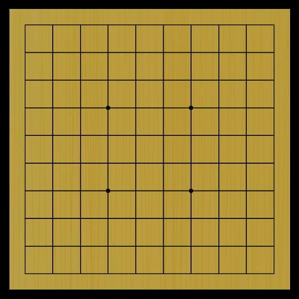 シンプルな将棋盤のイラスト